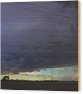 Afternoon Nebraska Thunderstorm Wood Print
