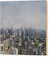 Chicago Skyline Aerial Photo Wood Print