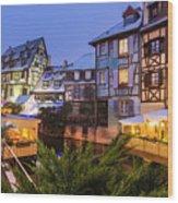 Colmar,petite Venice, Alsace, France, Wood Print