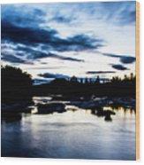 Elkton River Wood Print