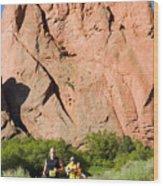 Garden Of The Gods Ten Mile Run In Colorado Springs Wood Print