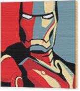 Iron Man Wood Print by Caio Caldas