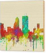 Jacksonville Florida Skyline Wood Print