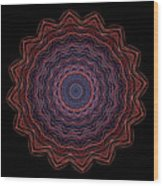 Kaleidoscope Image Created From Light Trails Wood Print