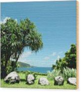 Keanae Maui Hawaii Wood Print