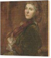 Lady  Wood Print