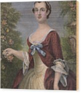 Martha Washington Wood Print by Granger