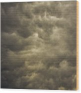 May Nebraska Storm Cells Wood Print
