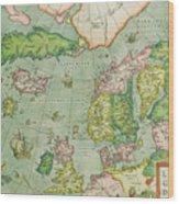 Old Map Wood Print