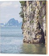 Picturesque Sea Landscape. Ha Long Bay, Vietnam Wood Print