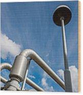 Pipes At Nesjavellir Geothermal Power Wood Print