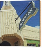 Route 66 - Conoco Tower Station Wood Print