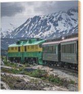 Scenic Train From Skagway To White Pass Alaska Wood Print