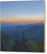 Springtime At Scenic Blue Ridge Parkway Appalachians Smoky Mount Wood Print