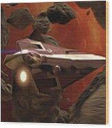 Star Wars At Poster Wood Print