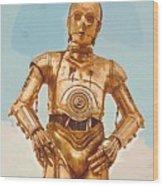 Star Wars Old Poster Wood Print