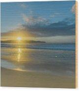 Sunrise Seascape At The Beach Wood Print