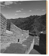 The Great Wall Of China Near Jinshanling Village, Beijing Wood Print