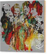 The Rolling Stones Collection Wood Print