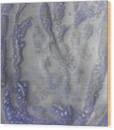 10. V1 Speckled Blue And Yellow Glaze Painting Wood Print