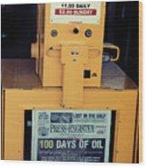 100 Days Of Oil Wood Print