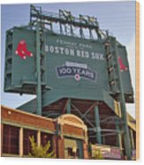 100 Years At Fenway Wood Print by Joann Vitali