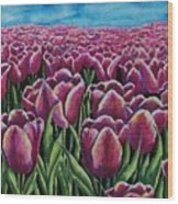 1000 Tulpis Wood Print