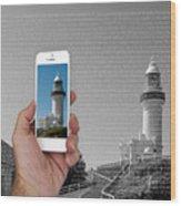 1000 Words-byron Bay Lighthouse Wood Print
