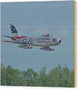 100_4272 F-86 Sabre Fighter Jet Wood Print