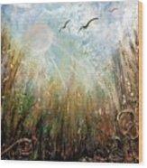 #1005 Golden Rays Wood Print