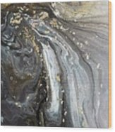 #1006 Gold Waves Wood Print