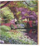 Water Lily Lake Wood Print