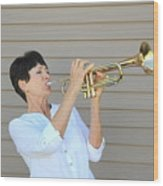 Jazz Musician. Wood Print