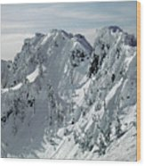 104726 Cornices On Denny Mountain Wood Print