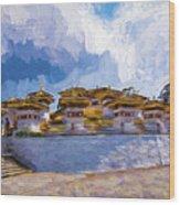 108 Stupas Wood Print