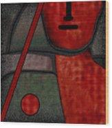 109  Minimalist Portrait .v.. Wood Print