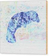 10957 Manatee Wood Print