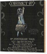 10th Anniversary Tour Wood Print
