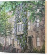 10th Street Wisteria Wood Print