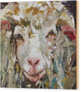 10x10 Sheep Wood Print