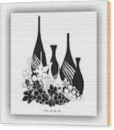 Abstract Monochrome Wood Print