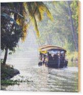 Backwaters Kerala - India Wood Print