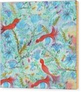 Birds Symphony Wood Print