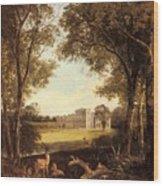 Boddington Henry John A View Of Norton Hall Henry John Boddington Wood Print