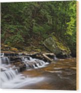 Brandywine Creek Falls Wood Print