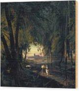 Forest Path Near Spandau Wood Print