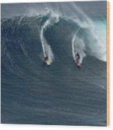 Jaws Wave Wood Print