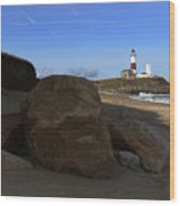 Montauk Point Lighthouse Montauk New York Wood Print