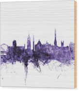 Newcastle England Skyline Wood Print