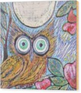 Owl Midnight Wood Print